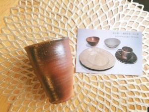 アツムイ窯のビアカップ